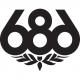 686 Wreath Logo Die-Cut Sticker 10x8